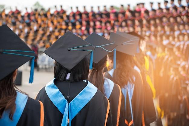 Ceremonies van universitair afgestudeerden