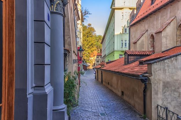 Cervena-straat in joods getto van praag.