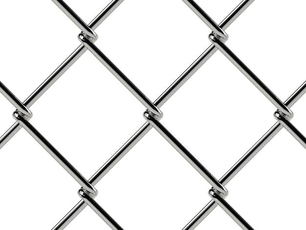 Chain link hek patroon. realistische geometrische structuur