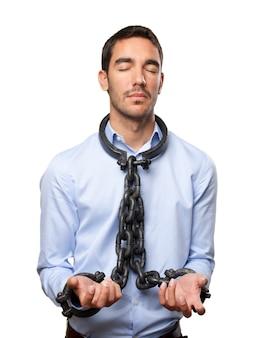 Chained zakenman