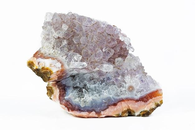 Chalcedoon mineraal geïsoleerd