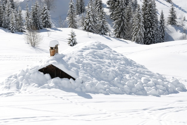 Chalet sneeuw winter