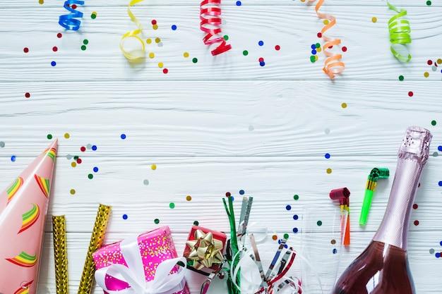 Champagne en feestelijke linten