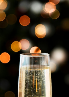 Champagne-glas met bokeh