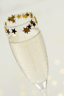 Champagne in glas
