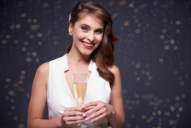 Champagne om het speciale evenement te vieren