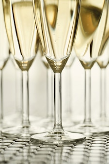 Champagneglazen met champagne