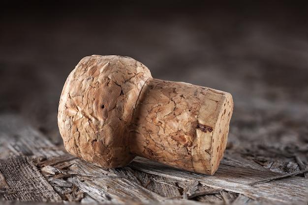 Champagnekurk gemaakt van natuurlijk hout