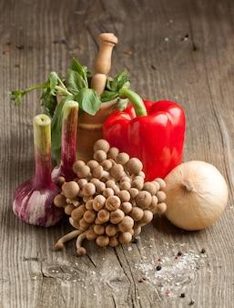 Champignons en groenten