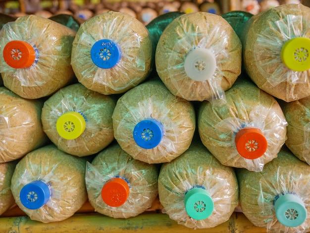 Champignonteelt in champignonkwekerij