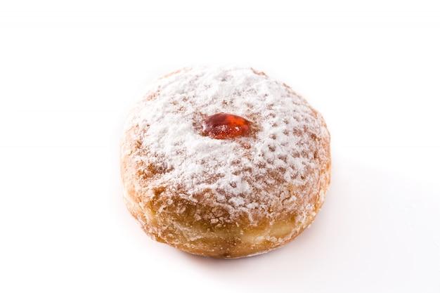 Chanoeka sufganiyot. traditionele joodse donuts voor chanoeka.