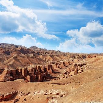 Charyn canyon, een mijlpaal van kazachstan.