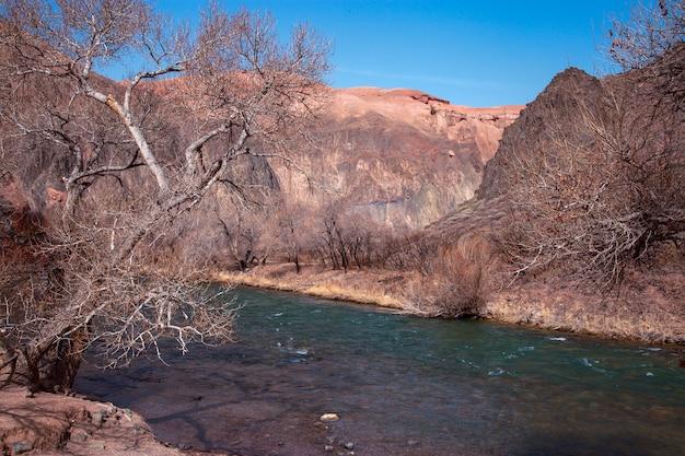 Charyn canyon in de regio almaty in kazachstan