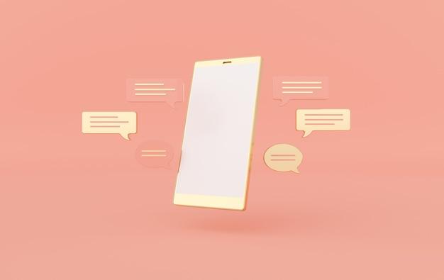 Chat-bubble en smartphone-weergave