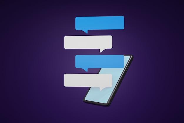 Chatbox op schermsmartphone.