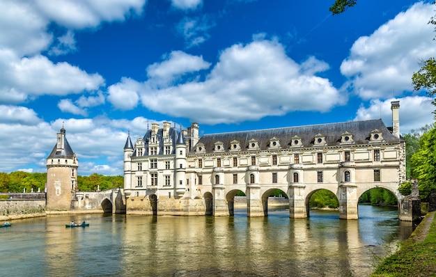 Chateau de chenonceau aan de rivier de cher - frankrijk, de loire-vallei