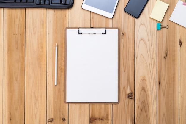 Checklist in een bureau