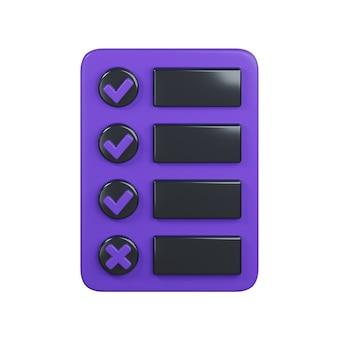 Checklist pictogram geïsoleerd op wit
