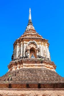 Chedi bij wat lok molee-tempel in chiang mai, thailand
