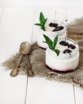 Cheesecake in een pot