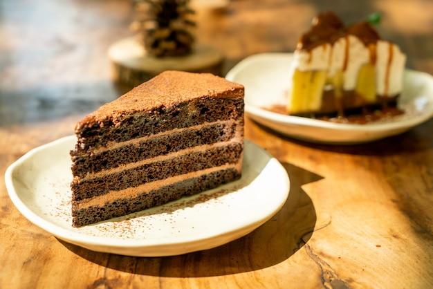 Cheesecake met donkere chocolade