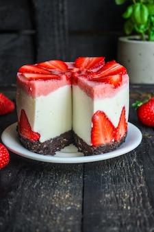 Cheesecake strawberrie zoete mascarponecake