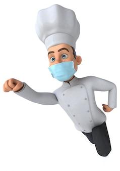 Chef-kok met een masker