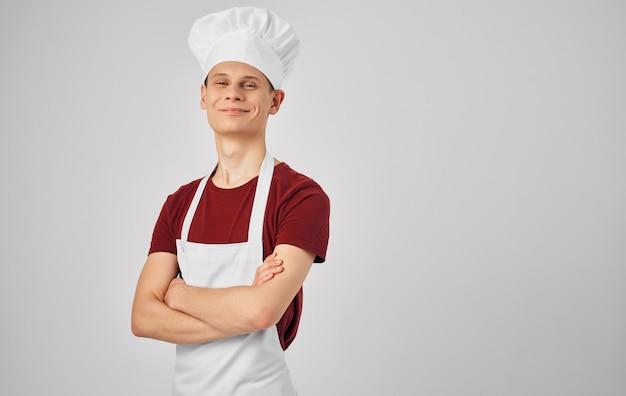 Chef-kok producten koken voedsel restaurant professionele levensstijl grijs