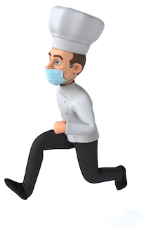 Chef met een masker