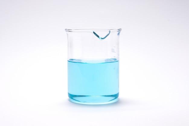 Chemie laboratoriumonderzoek beker en reageerbuis