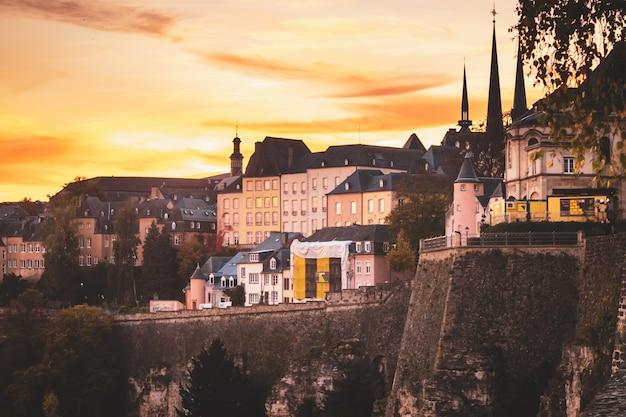 Chemine de la corniche in de stad luxemburg