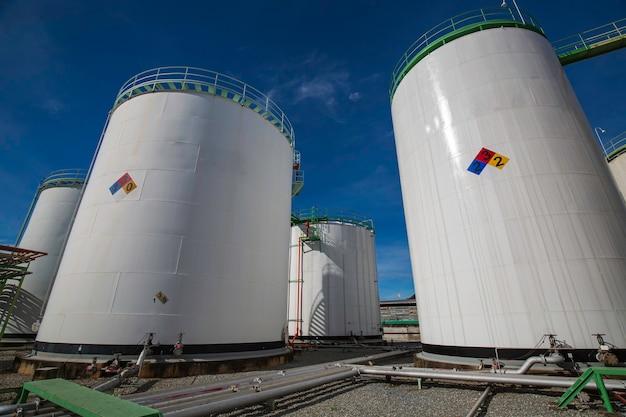 Chemische industrie tankopslag propaan koolstofstaal de tank.
