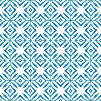 Chevron aquarel patroon. blauw extatisch boho chic zomerontwerp. groene geometrische chevron aquarel grens. textiel klaar unieke print, badmode stof, behang, inwikkeling.