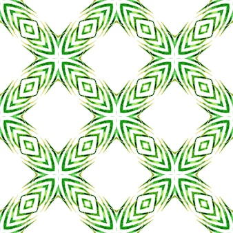 Chevron aquarel patroon. groen delicaat boho chic zomerontwerp. groene geometrische chevron aquarel grens. textiel klaar sympathieke print, badmode stof, behang, inwikkeling.