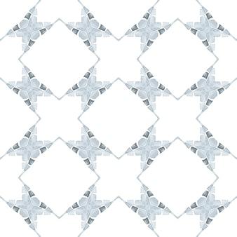 Chevron aquarel patroon. zwart-wit uitstekend boho chic zomerontwerp. groene geometrische chevron aquarel grens. textiel klaar betoverende print, badmode stof, behang, inwikkeling.
