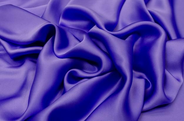 Chiffon zijde lila kleur