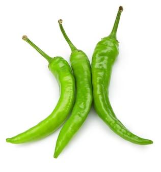 Chili peper geïsoleerd op een witte achtergrond