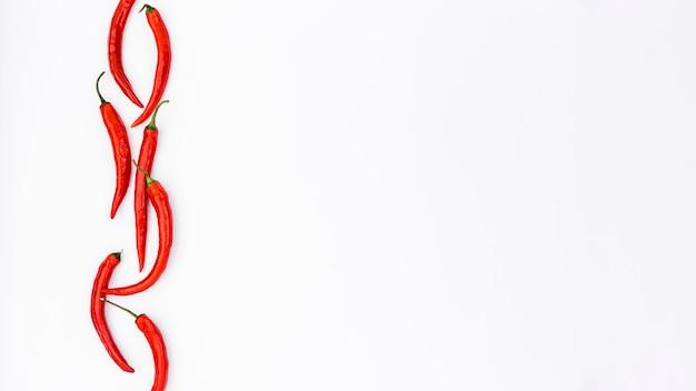 Chilis en copyspace