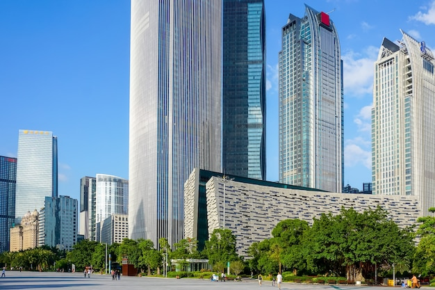 China city river business view