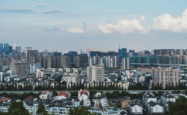 China hangzhou city architectuur skyline