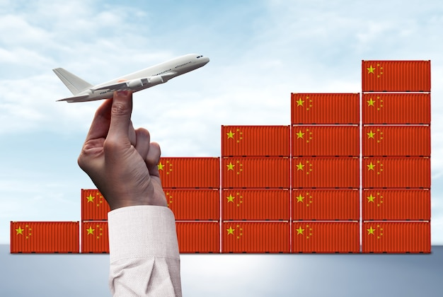 China logistiek concept: