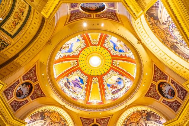 China, macau - 10 september 2018 - luxehotelresort en casinospel in venetiaanse landmar