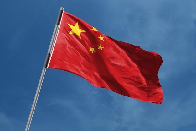 China vlag zwaaien