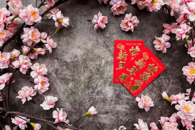 Chinees nieuw jaarconcept met copyspace