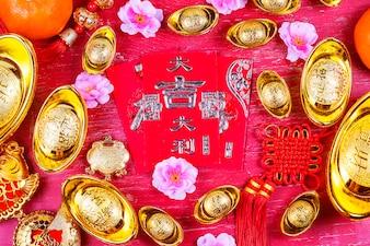 Chinees Nieuwjaar festival decoraties