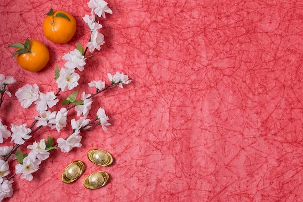 Chinees nieuwjaar met mandarijnen