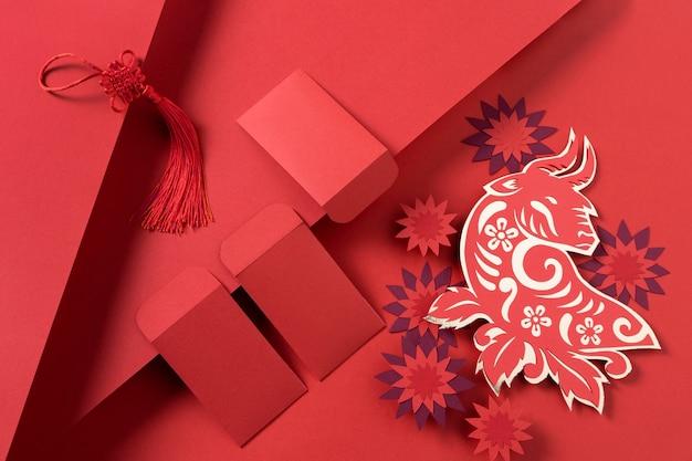 Chinees nieuwjaar met osconcept