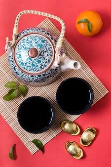 Chinees nieuwjaar met theepot
