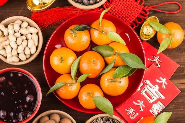Chinees traditioneel lentefestivalvoedsel