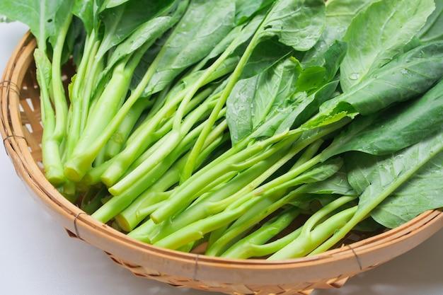 Chinese boerenkool verse groente groen blad